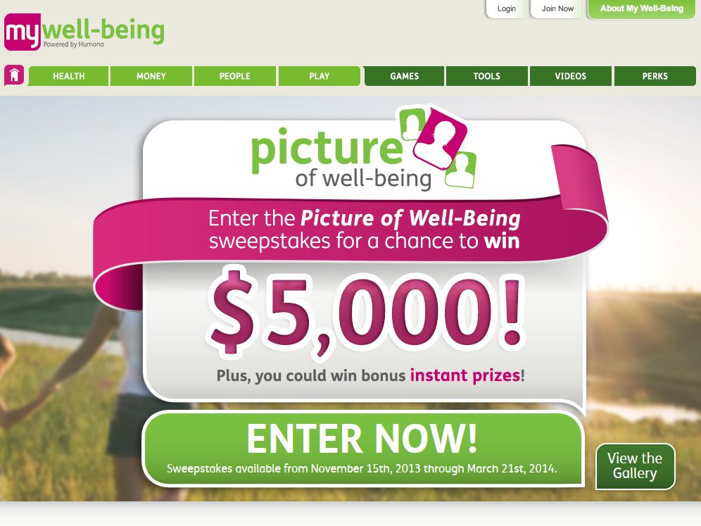 My Well Being Picture of Well-Being Sweepstakes