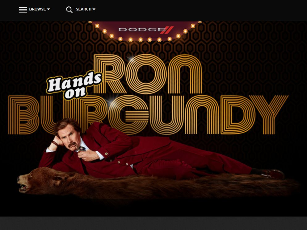 Hands on Ron Burgundy Promotion