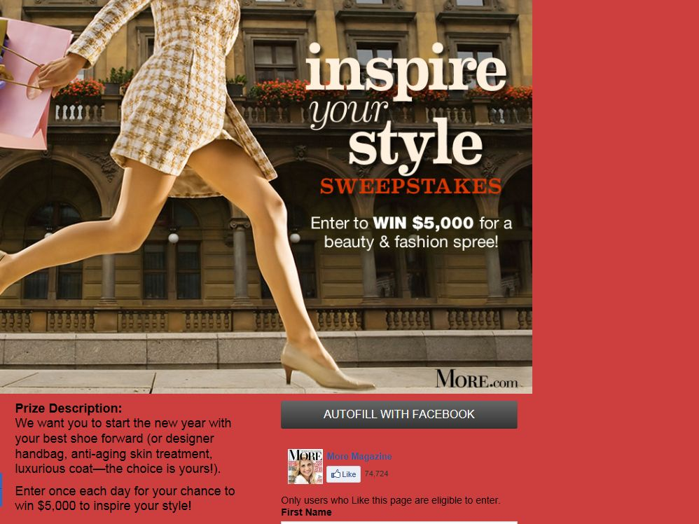 MORE Magazine's Inspire Your Style Sweepstakes