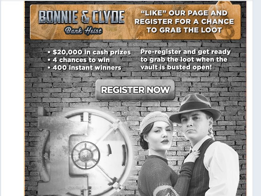 A&E's Bonnie & Clyde Vault Break-In Game Sweepstakes