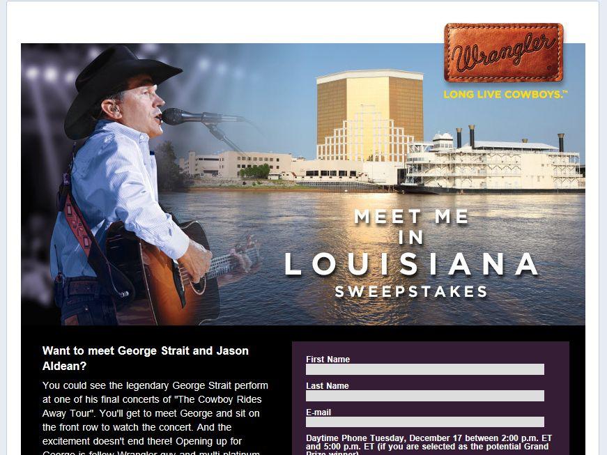 "Wrangler ""Meet Me in Louisiana"" Sweepstakes"