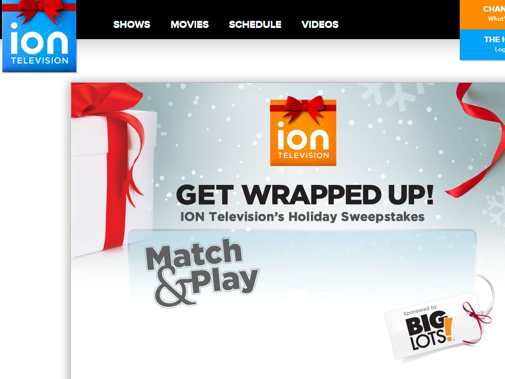 ION Television's 'Get Wrapped Up' Holiday Sweepstakes