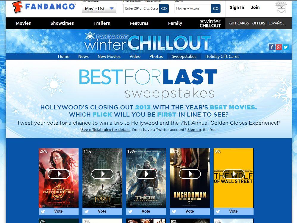 "Fandango's ""Best for Last"" Sweepstakes"