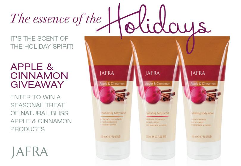 JAFRA Cosmetics' Apple & Cinnamon Giveaway