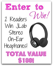 2 Winners – JLab Stereo On-Ear Headphones! $180 value (ends 11/12)