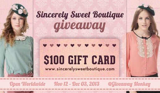 $100 Sincerely Sweet Giveaway