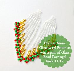 Glass Bead Earrings Giveaway!