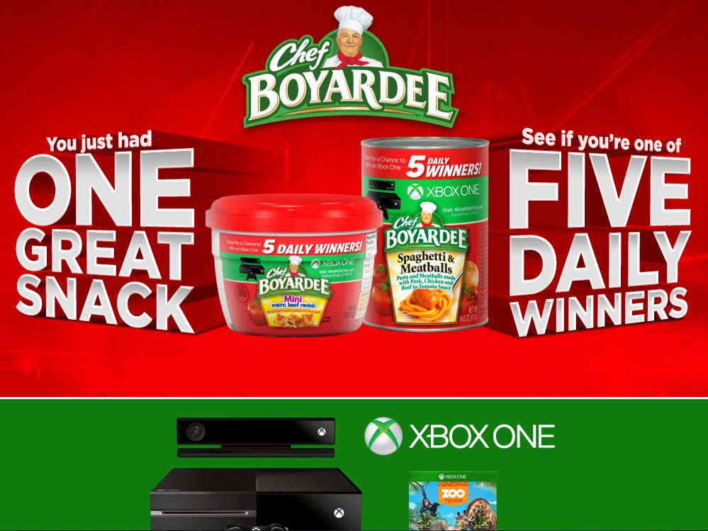 Win With Chef Boyardee Instant Win Game