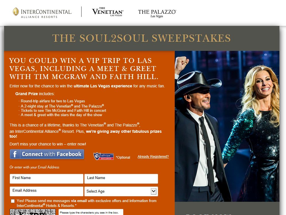 """The """"Soul2Soul"""" Sweepstakes"""