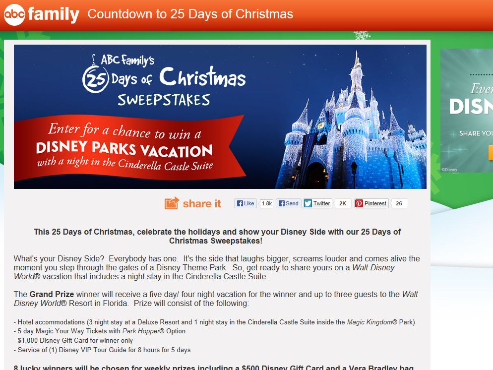 abc family 25 days of christmas sweepstakes - Abc 25 Days Of Christmas