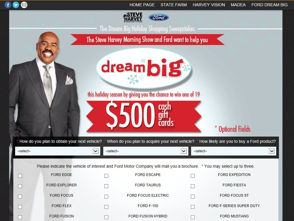 steve harvey sweepstakes the steve harvey morning show dream big holiday shopping 6499