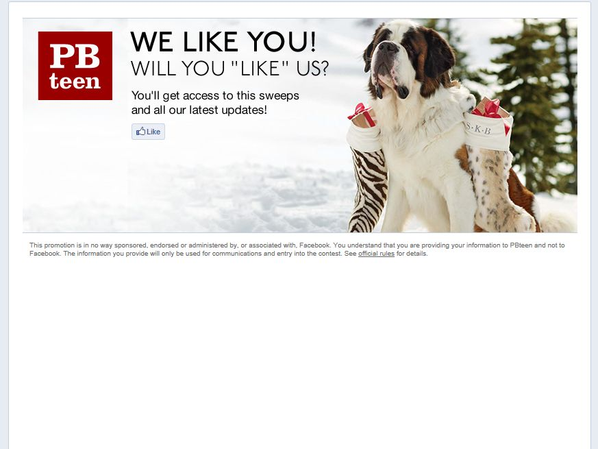 PBteen Gifts For You Instant Win Sweepstakes