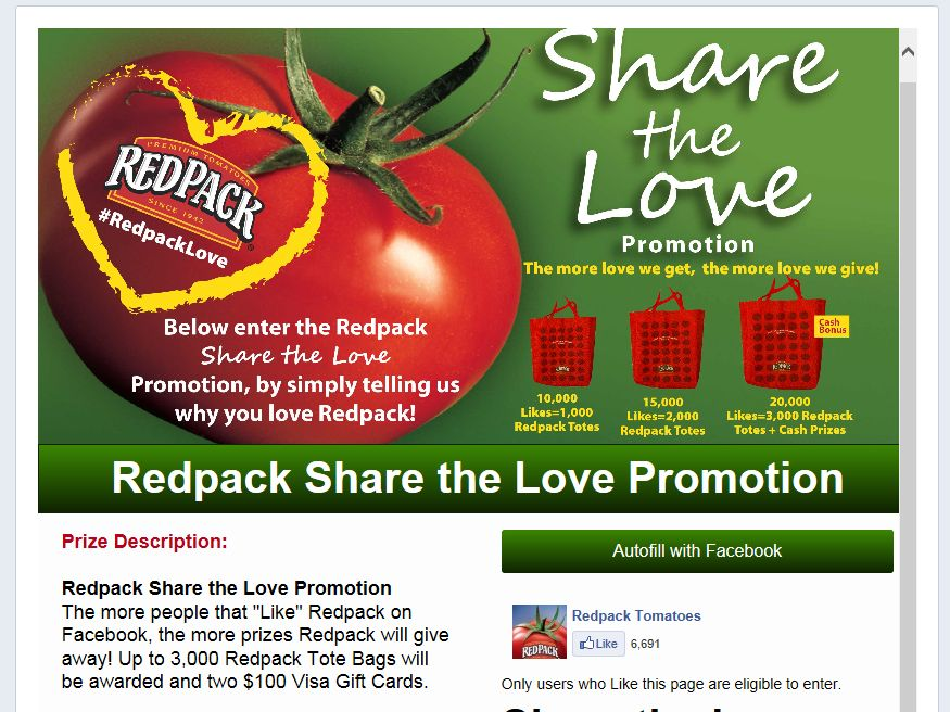 Redpack Share the Love Promotion