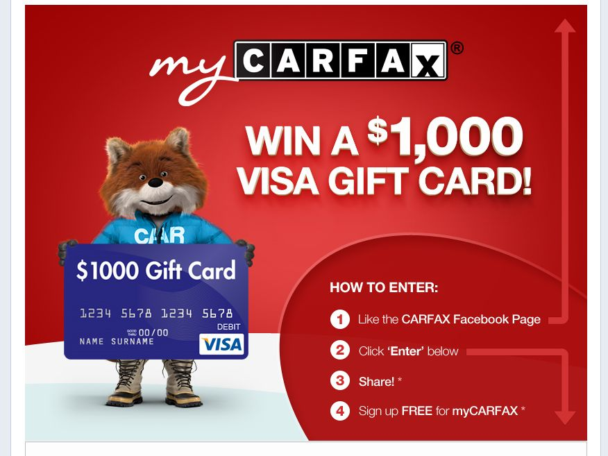 CARFAX Holiday Sweepstakes