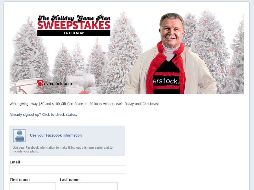 "Overstock.com ""The Holiday Game Plan"" Sweepstakes"