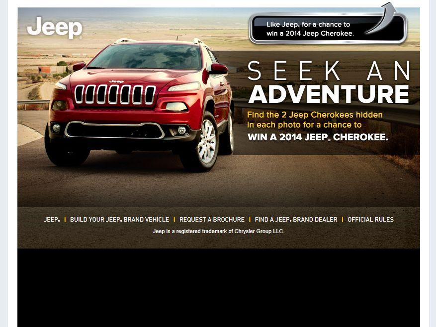 Jeep Seek an Adventure Sweepstakes