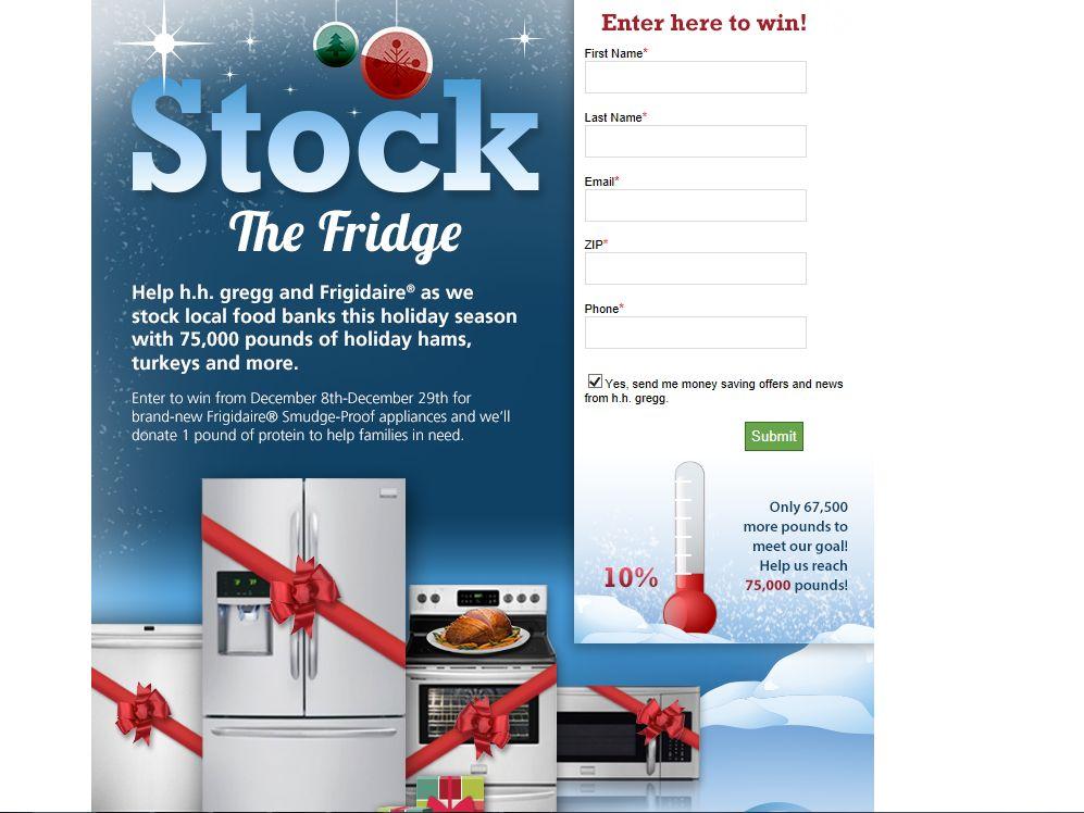 h.h. gregg Stock the Fridge Promotion