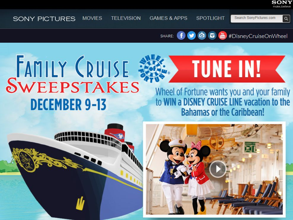 Wheel of Fortune Family Cruise Sweepstakes