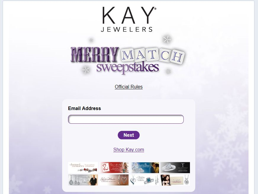 Kay Jewelers Merry Match Sweepstakes