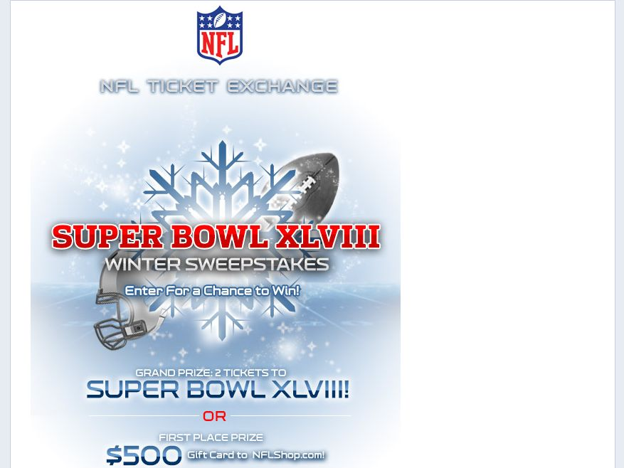NFL Ticket Exchange Gear Up For Winter Sweepstakes