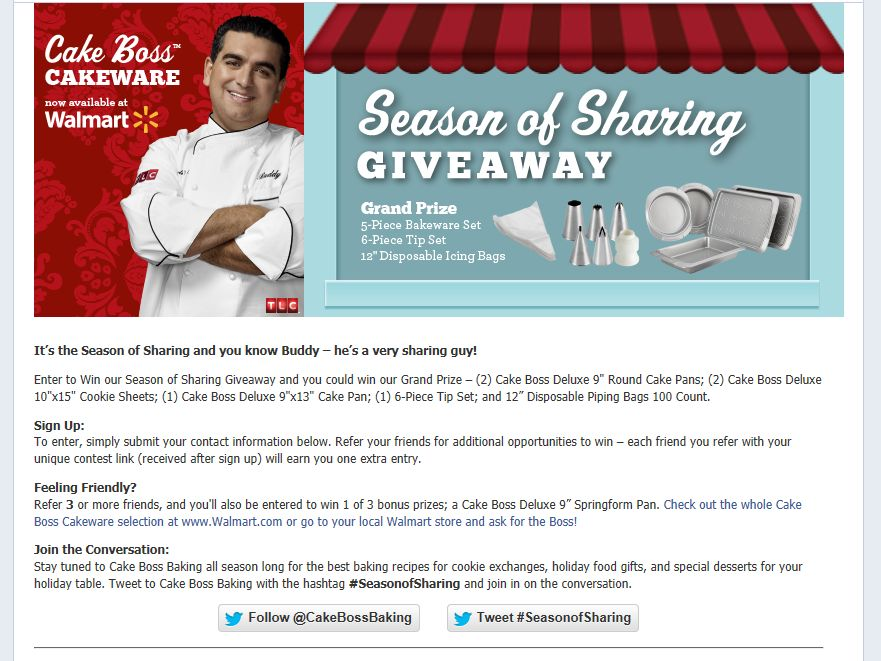 Cake Boss Season of Sharing Giveaway