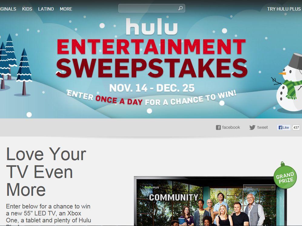 Hulu Entertainment Sweepstakes