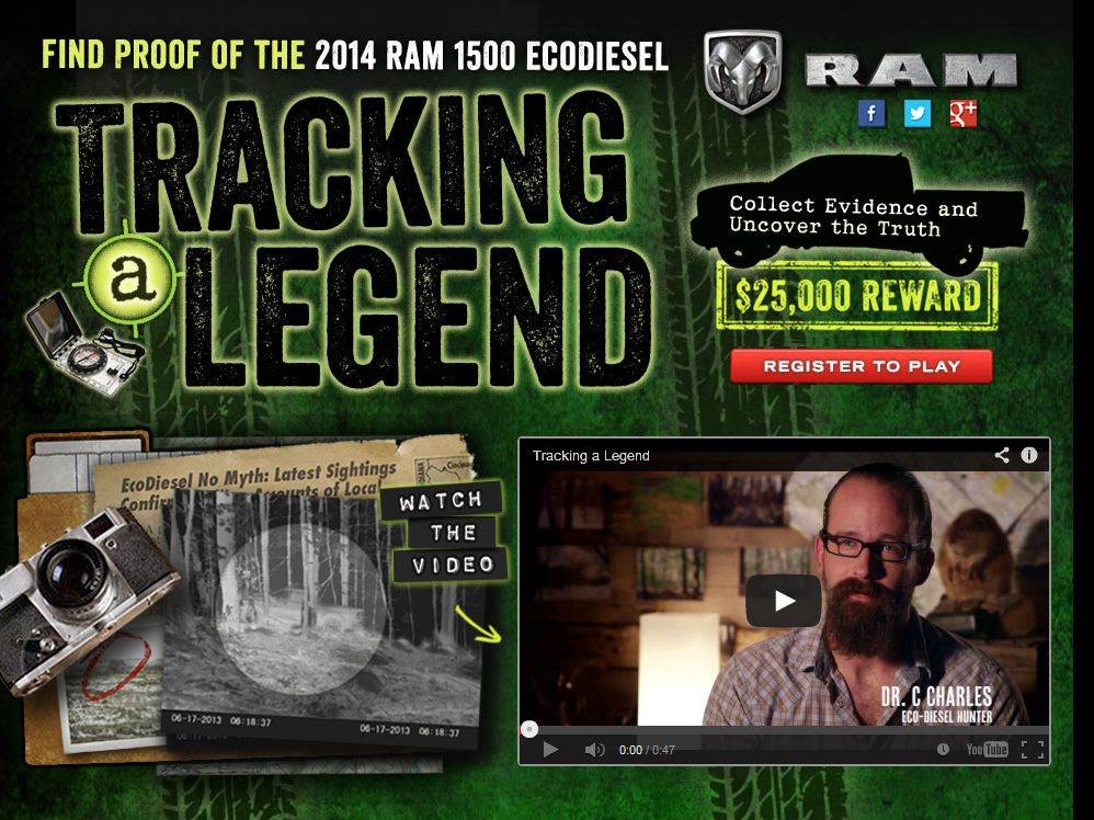 Ram Trucks Tracking a Legend Sweepstakes