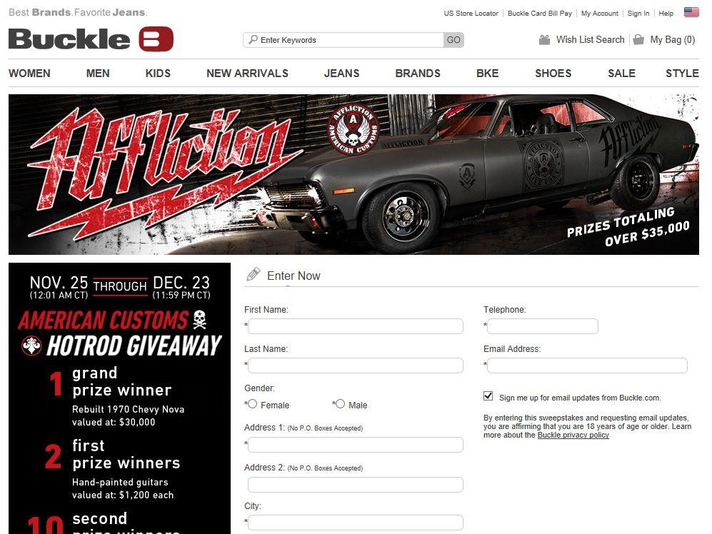 Buckle American Customs Hotrod Giveaway
