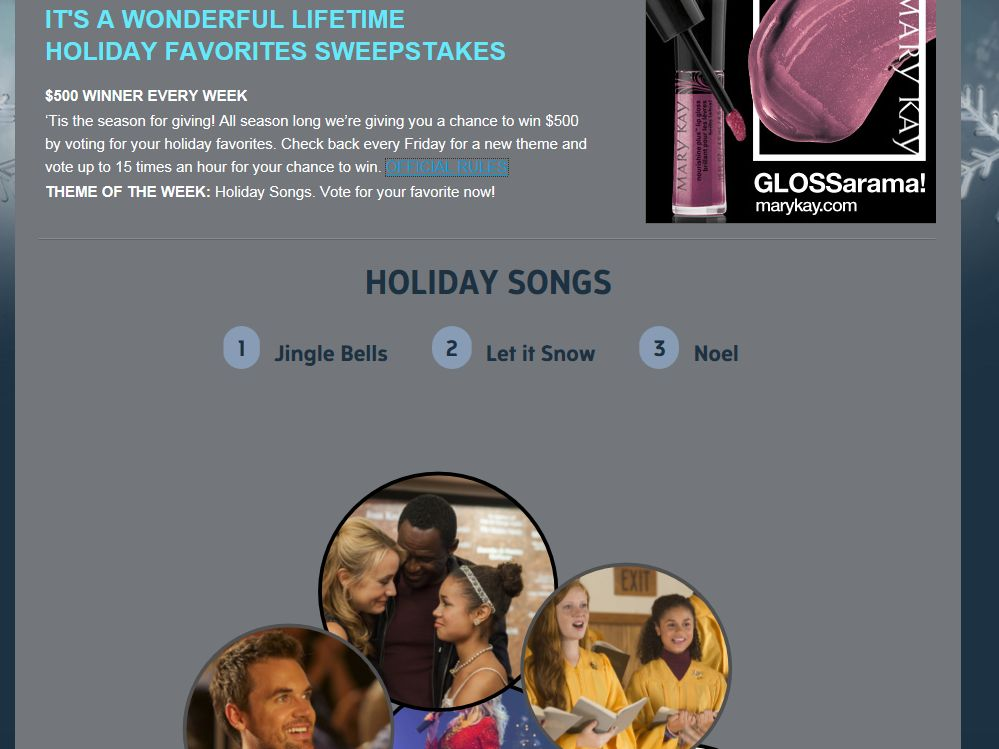 It's a Wonderful Lifetime Holiday Favorites Sweepstakes