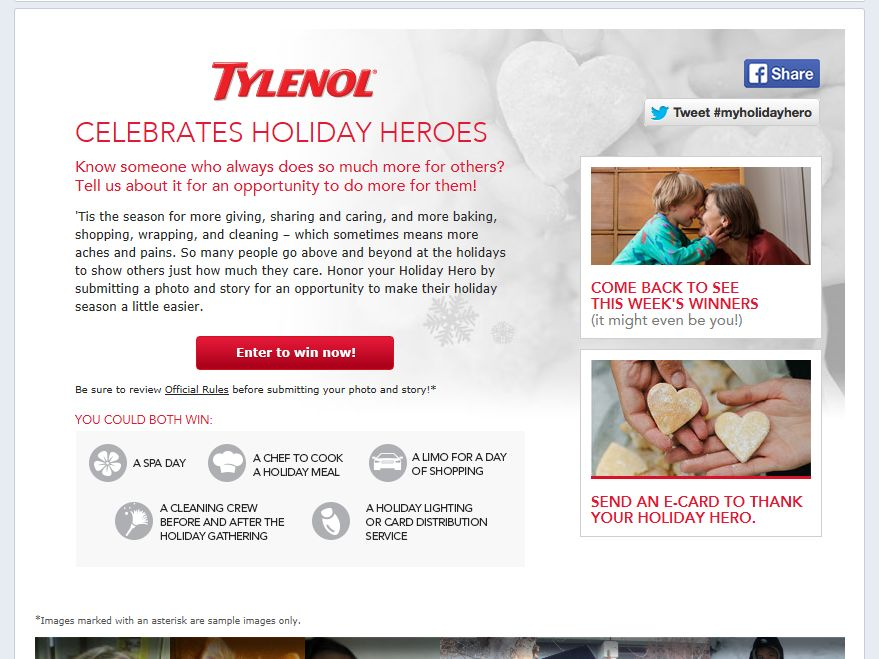 TYLENOL Holiday Heroes Contest