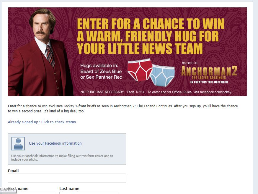 Burgundy's Briefs and Movie Ticket Sweepstakes