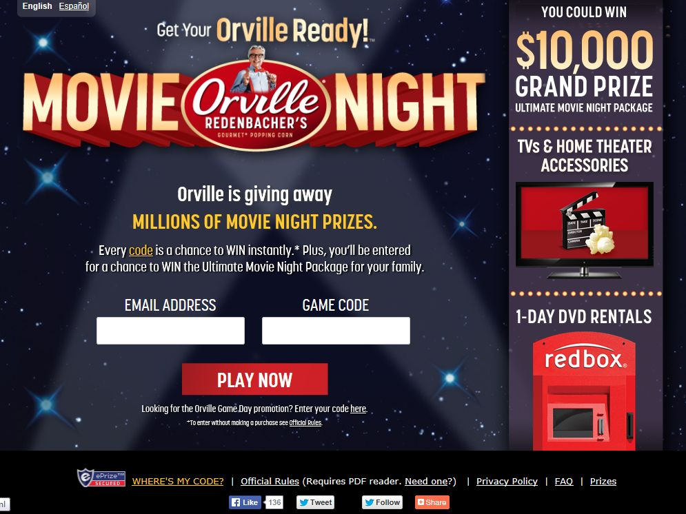 Get Your Orville Ready Movie Sweepstakes – Code Required