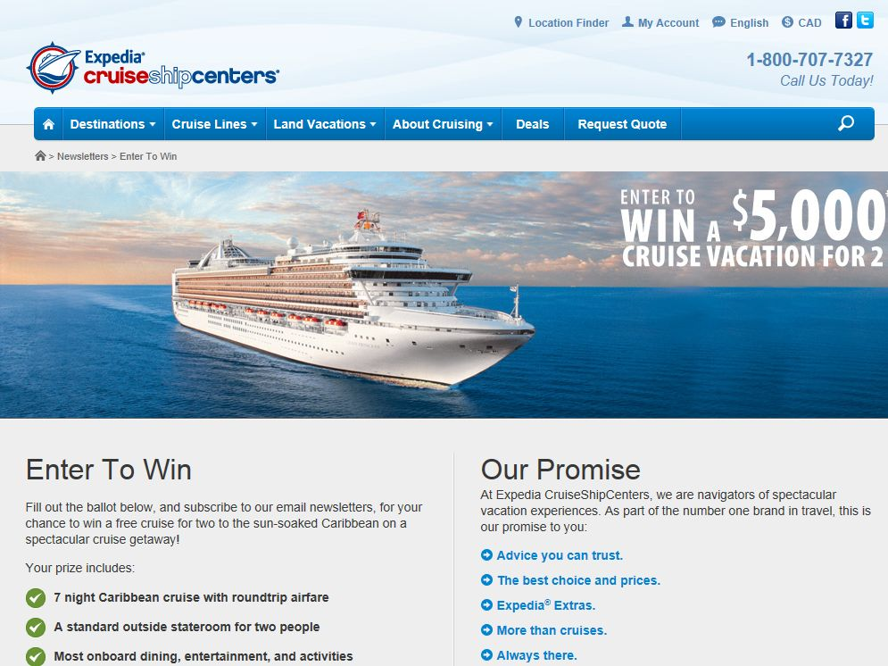 Expedia 2014 Win a Dream Vacation Contest