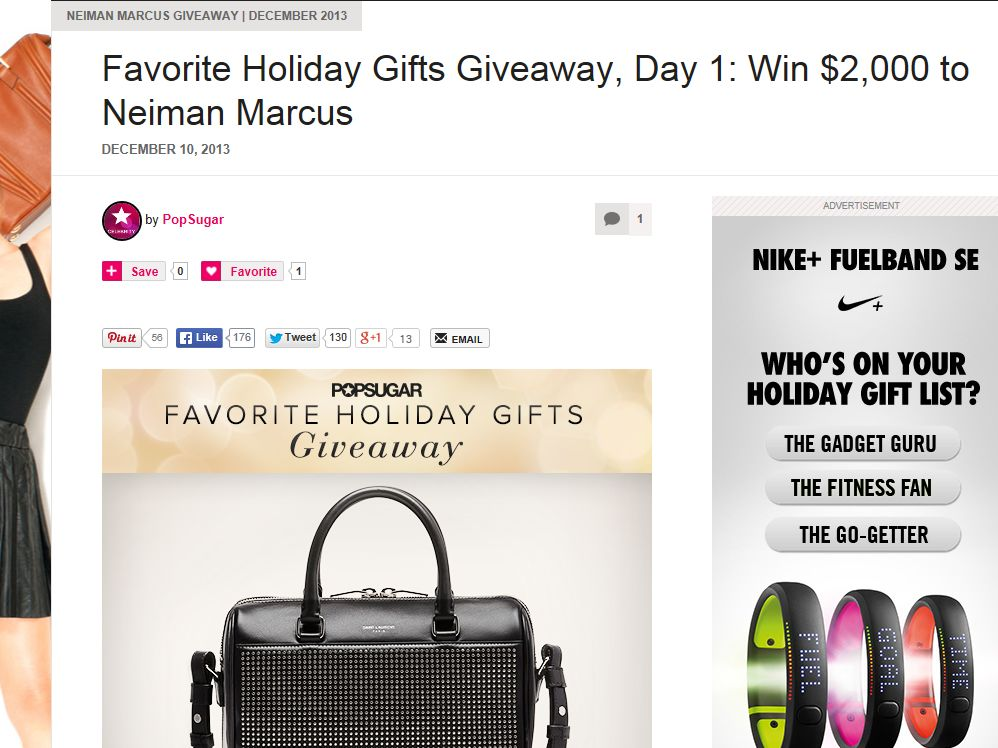 POPSUGAR's Favorite Gifts Sweepstakes