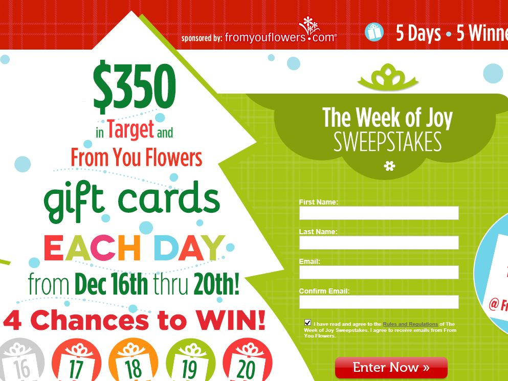 From You Flowers The Week of Joy Sweepstakes