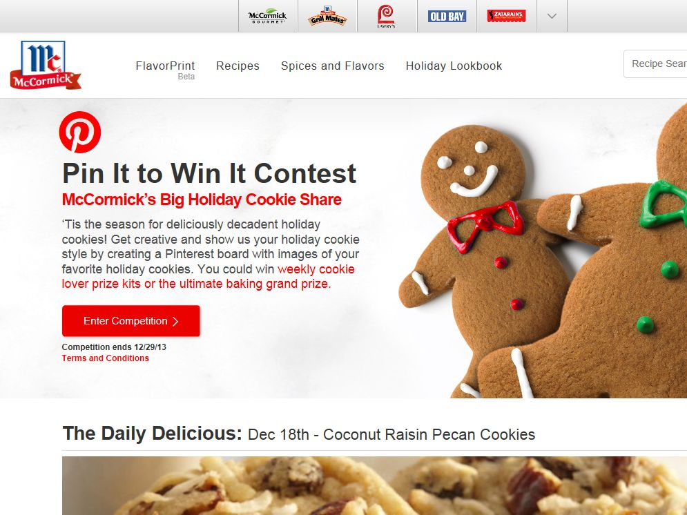 McCormick Pin it to Win it Contest
