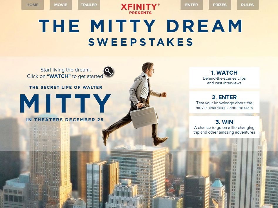 XFINITY Presents: The Mitty Dream Sweepstakes