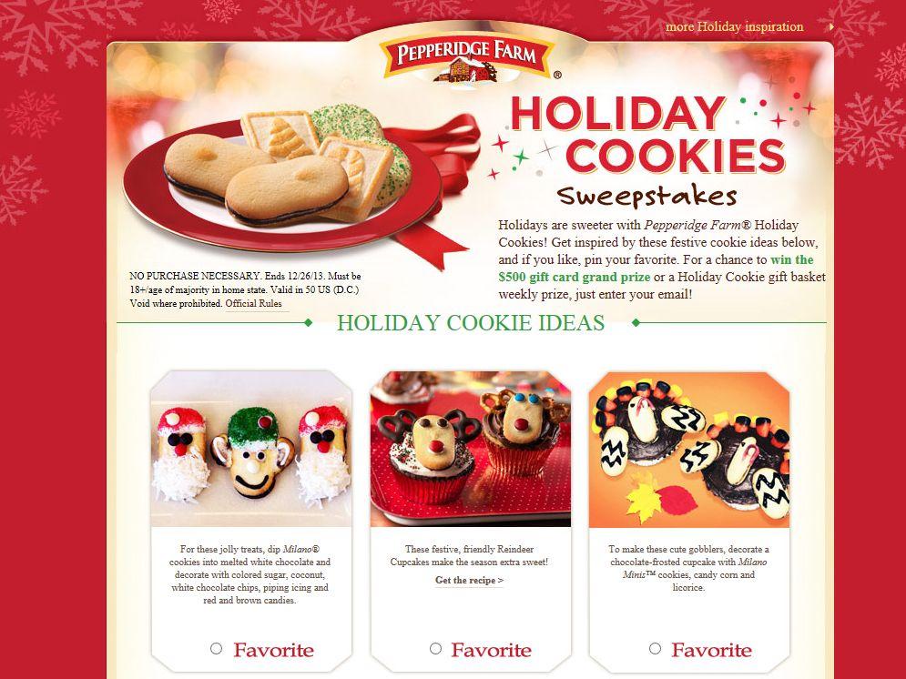 Pepperidge Farm Holiday Cookies Sweepstakes