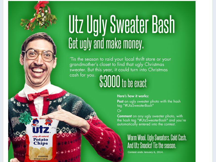 Utz Ugly Sweater Bash Sweepstakes