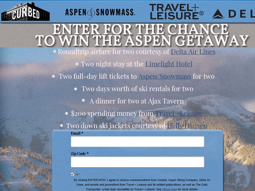 ASPEN GETAWAY Sweepstakes