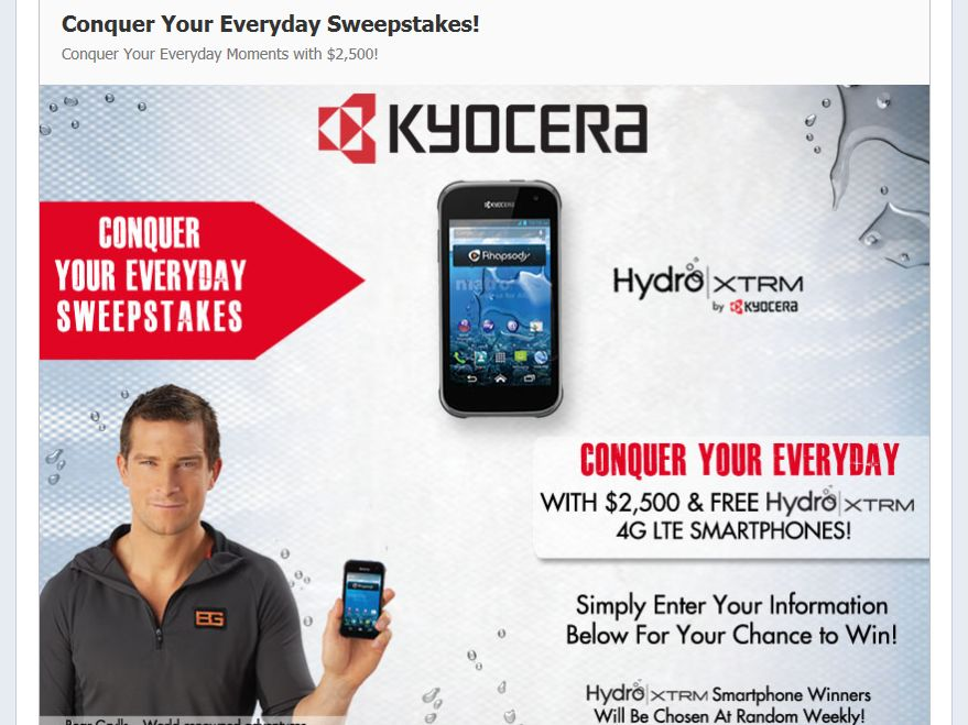 "Kyocera ""Conquer Your Everyday"" Facebook Sweepstakes"