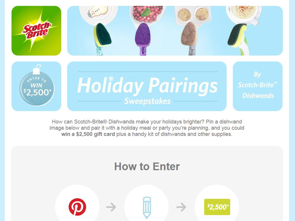 Scotch-Brite Dishwands Holiday Sweepstakes