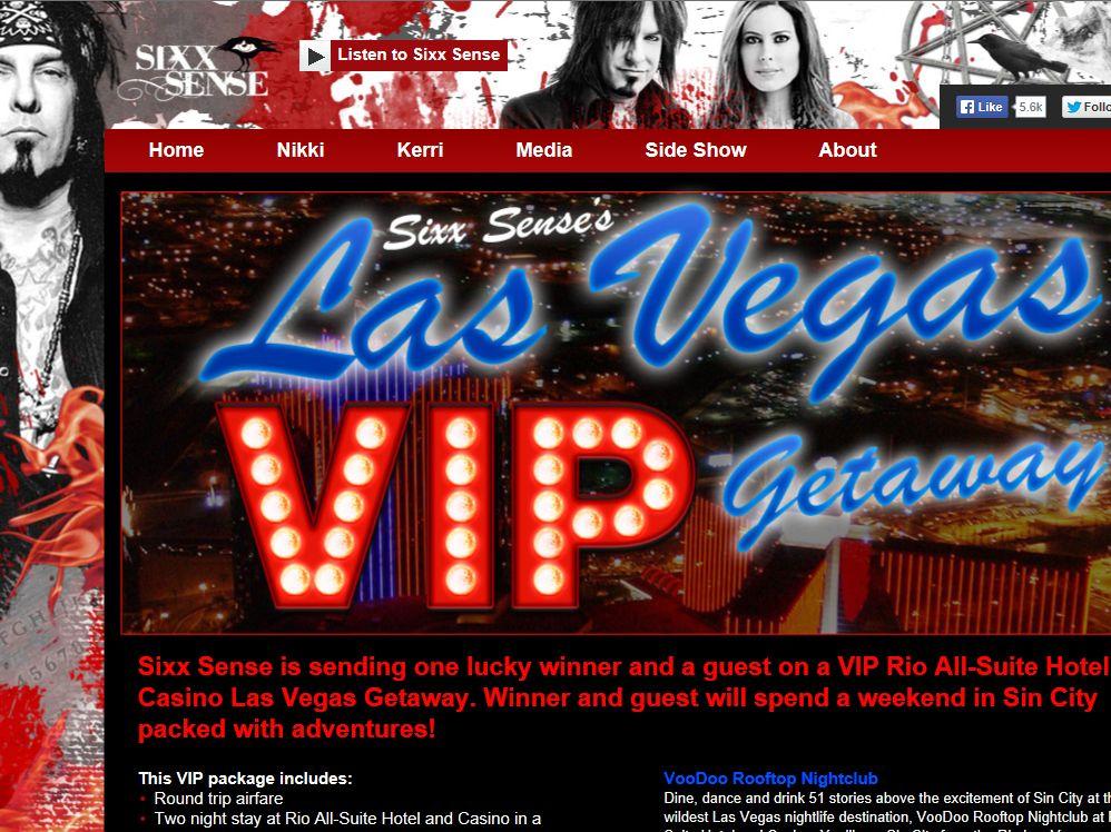 Sixx Sense's Las Vegas VIP Getaway Contest