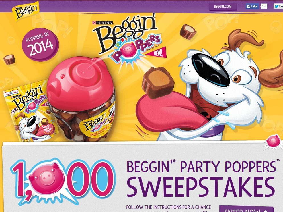 BEGGIN' Party Poppers Sweepstakes