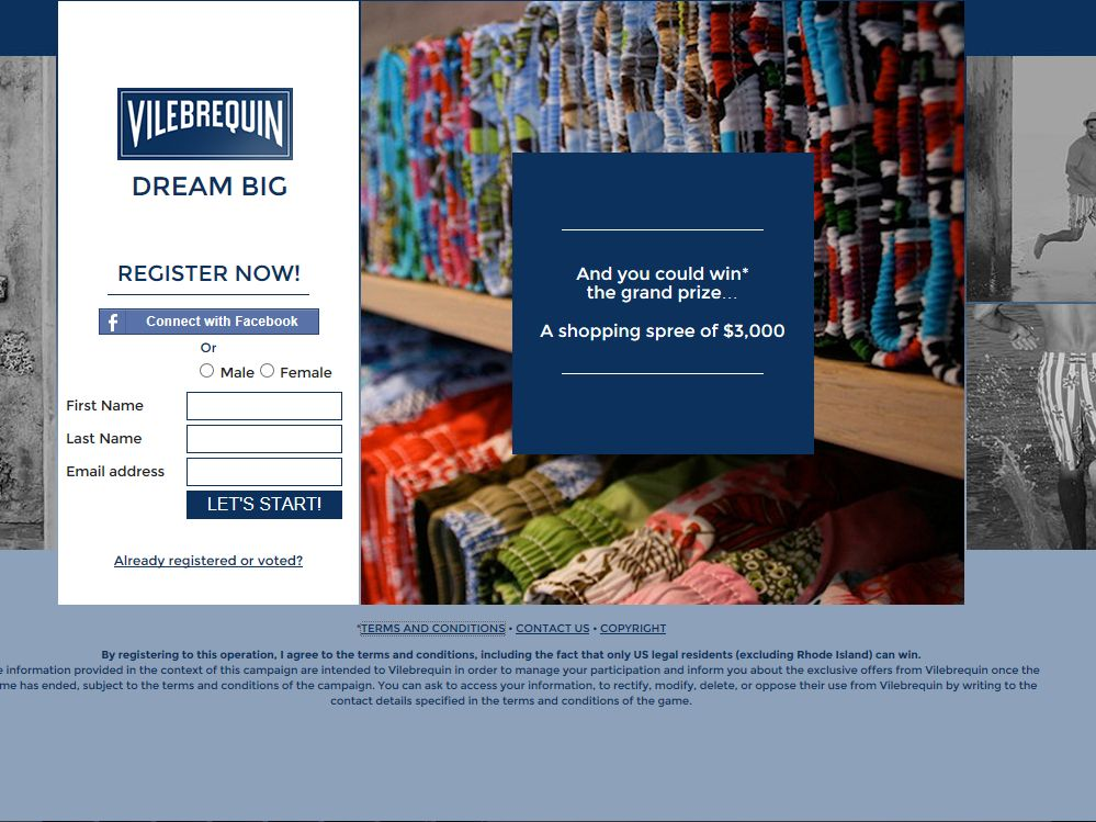 Vilebrequin Dream Big Campaign Sweepstakes