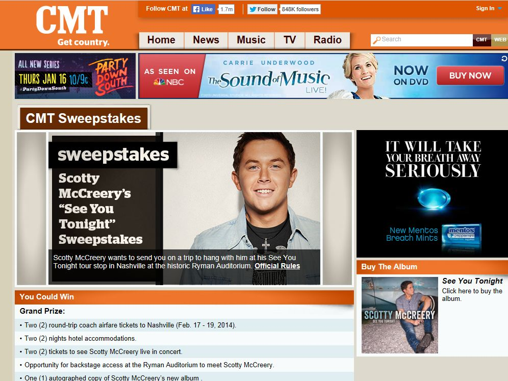 Scotty McCreery's See You Tonight Sweepstakes