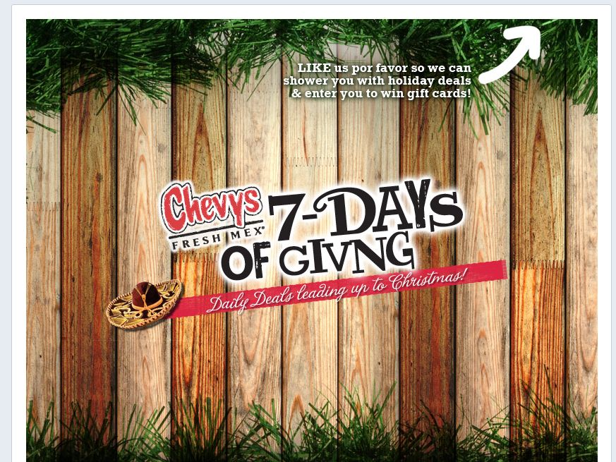 """Chevys """"7-Days of Giving"""" Promotion"""