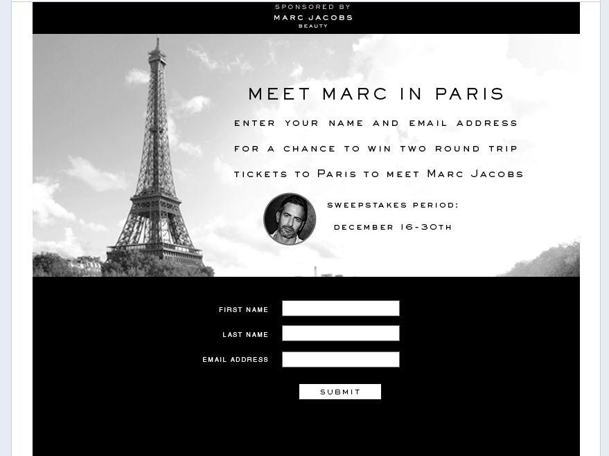 Meet Marc in Paris Sweepstakes