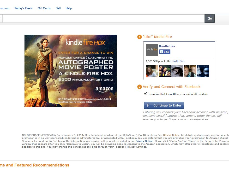 """Kindle """"Catching Fire"""" Sweepstakes"""