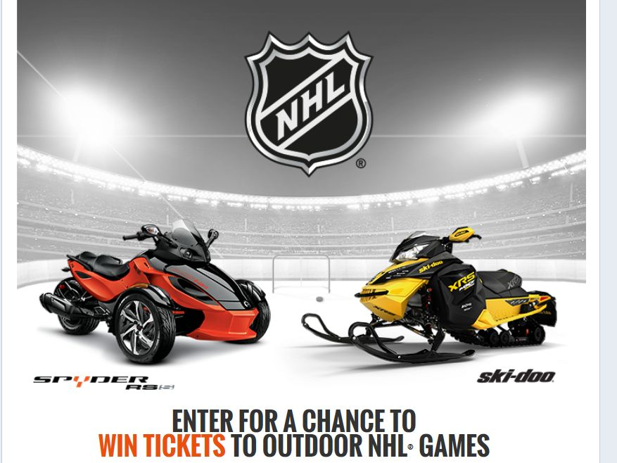 BRP Outdoor NHL Games Sweepstakes